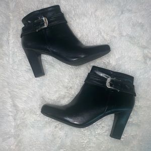 Black booties by Franco sarto size 8 1/2 L-main